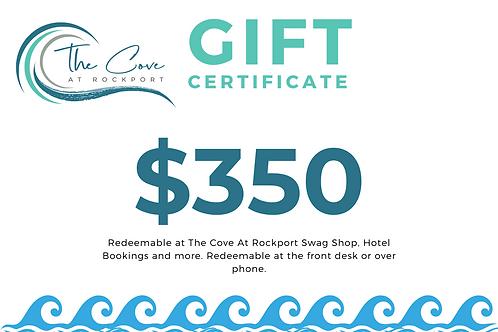 $350 Certificate