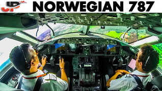 Piloting the Boeing 787 out of Stockholm   Cockpit View
