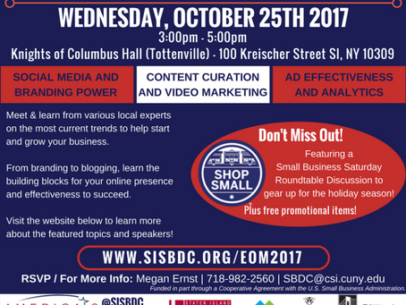 Evolution of Marketing Seminar 2017 – PLUS Small Business Saturday Roundtable Discussion