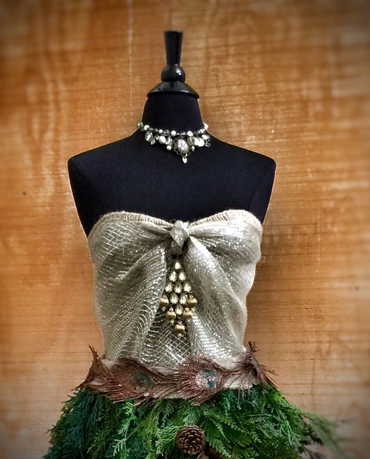 Dress Form Christmas Tree.Diy How To Create Your Own Dress Form Christmas Tree
