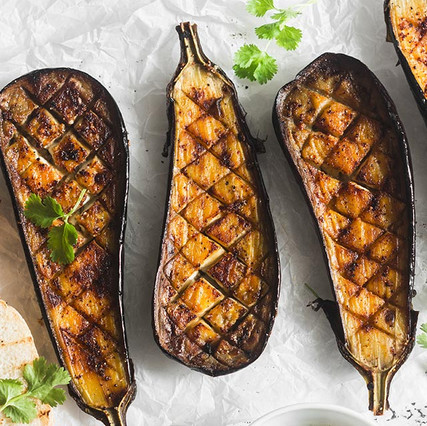 GRILLED EGGPLANT WITH MISO AIOLI