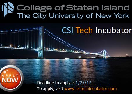 Deadline Extended: CSI Technology Incubator