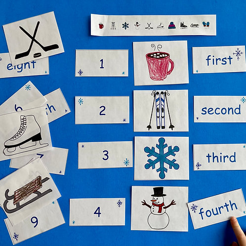 Ordinal Numbers with Shapes