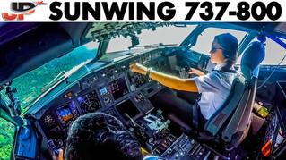 Piloting Boeing 737 into Puerto Plata   Cockpit Views