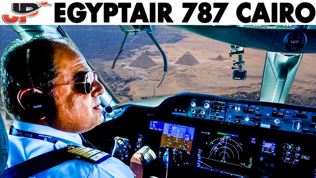 Stunning Cockpit Approach into Cairo | Egyptair 787 Flightdeck View