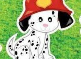 Fire Fighter Puppy Icon