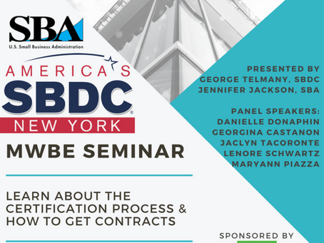 MWBE Seminar: Certification & Contracts