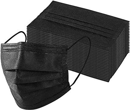 Black 3-Ply Mask (Box of 50)