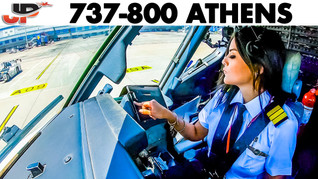 Piloting the Boeing 737 out of Athens   Cockpit Views