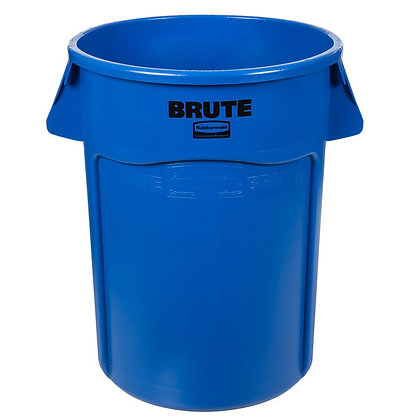 Trash Can - 55Gal Blue (Recycle)