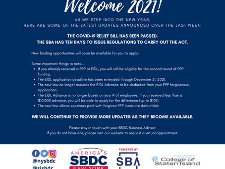 Welcome 2021! COVID Relief Guidance & Marketing Webinar