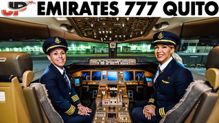 Emirates Women Pilot Boeing 777 into Quito   Cockpit Views