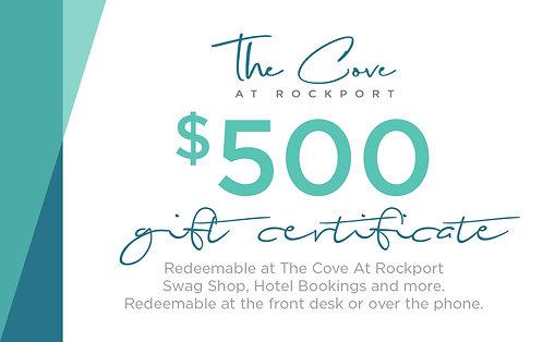 $500 Certificate