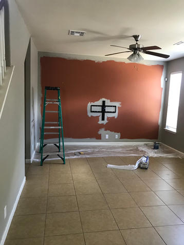 Painted Interior Wall