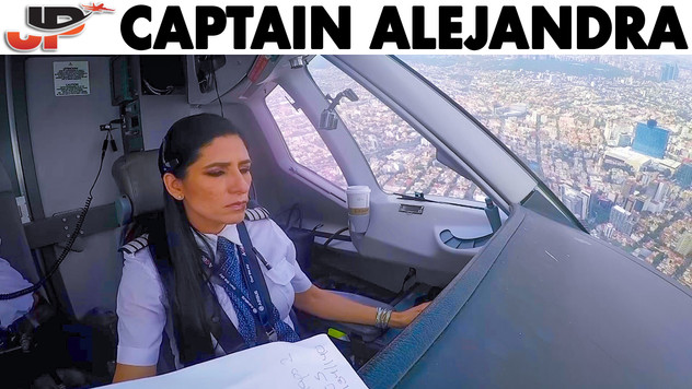 Alejandra Pilots the Superjet into Mexico