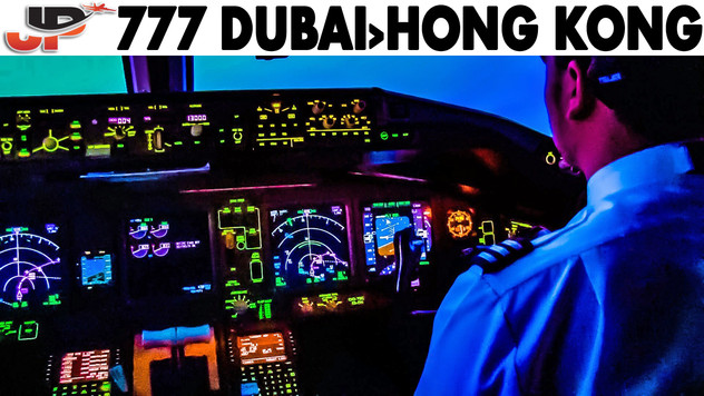 Piloting BOEING 777 Dubai to Hong Kong