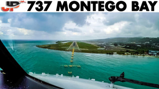 Piloting Boeing 737 800 into Montego Bay   Cockpit Views