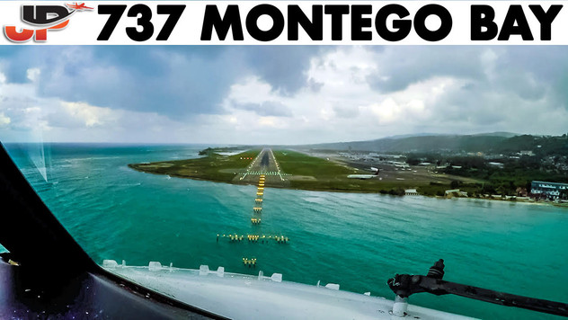 Piloting Boeing 737 800 into Montego Bay | Cockpit Views