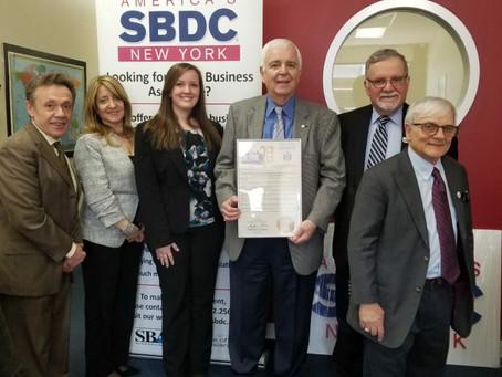 Staten Island SBDC Receives Proclamation from Senator Andrew J. Lanza
