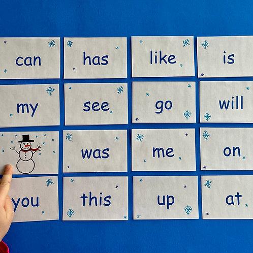 Snowman Sight Word Memory