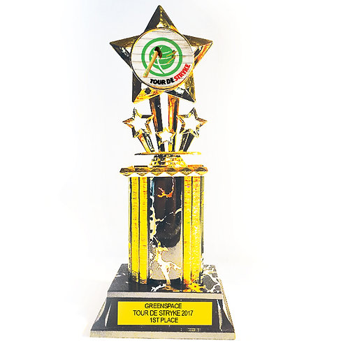 Trophy: Column with Logo