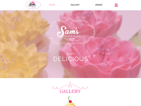 Sam's Sweet and Savoury Website