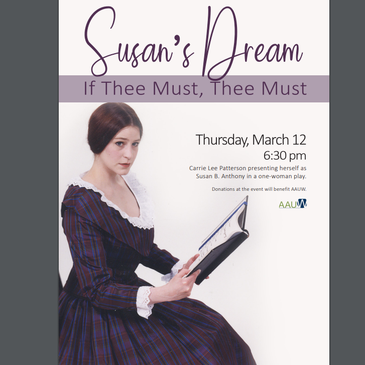 Susan's Dream:  If Thee Must, Thee Must