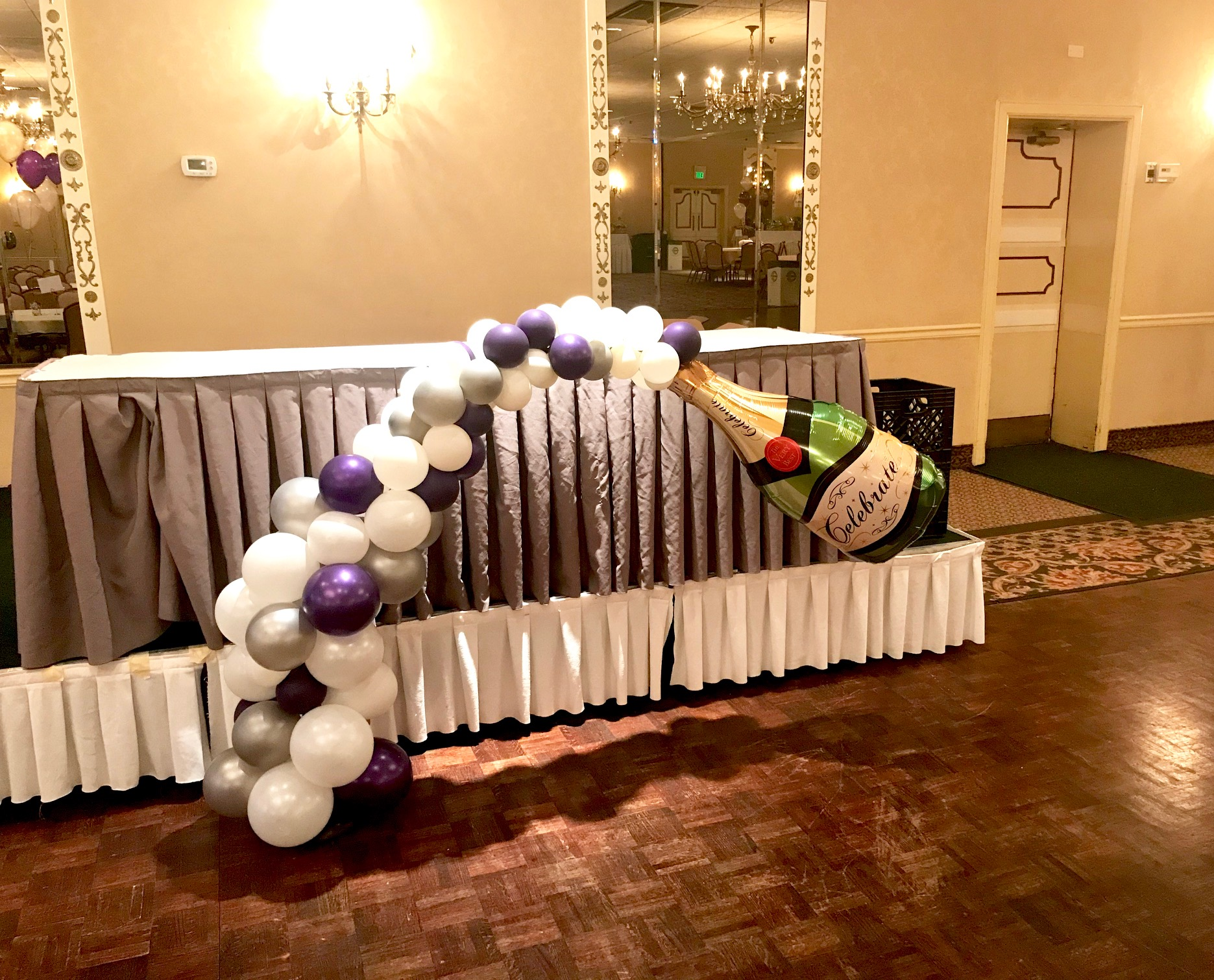 champagne bottle balloons
