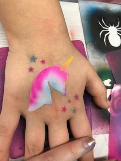 unicorn airbrush tattoo