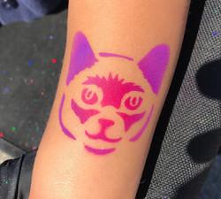kitty cat airbrush tattooo