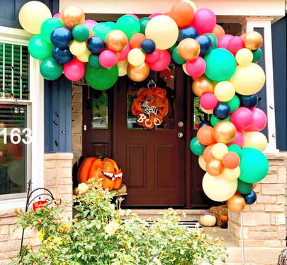 fall balloon arrangements and decorations illinois