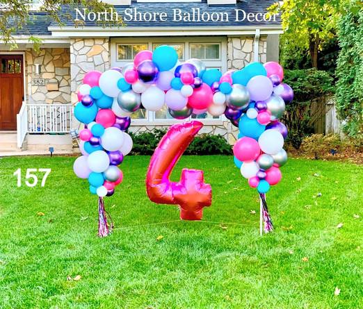 kids birthday balloon arch