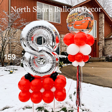 winter balloon delivery in winnetka, glencoe, glenview, il