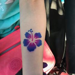 flower airbrush tattoo