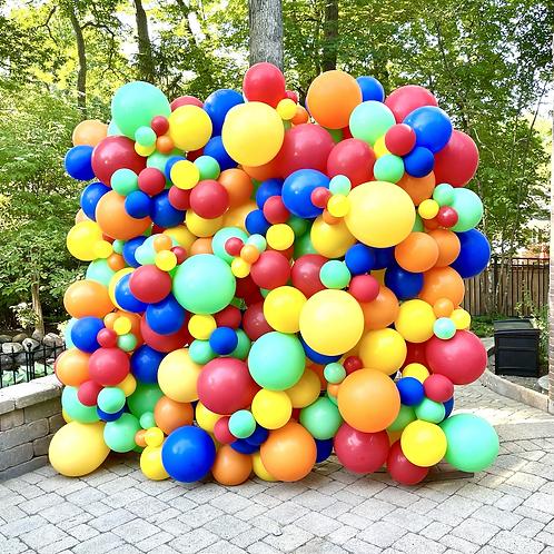 Bright Balloon Wall 7x7