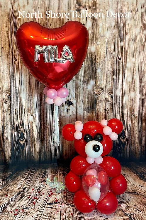 Heart Balloon & Bear
