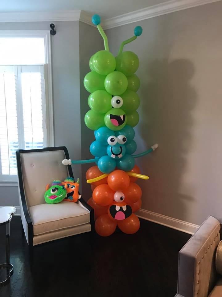 monster balloon decorations