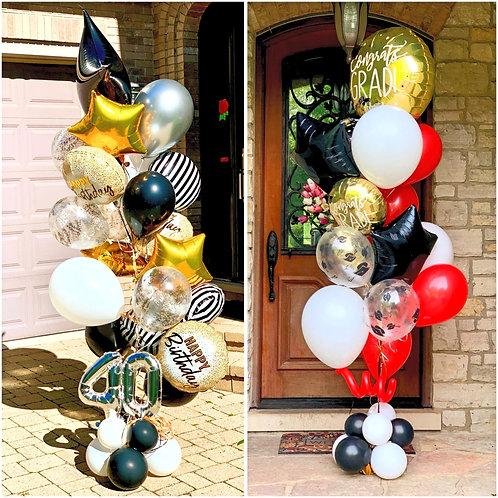 """Deluxe 11"""" Helium Bouquet (Indoor)"""