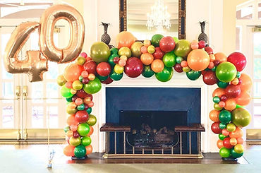 Indoor Fireplace Balloon Arch Chicago IL