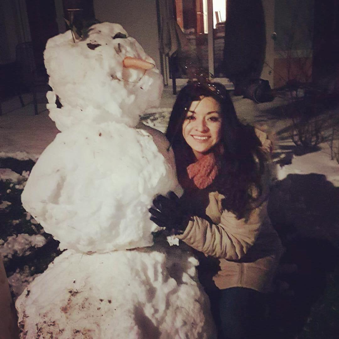 With Snowman Chuchito :)