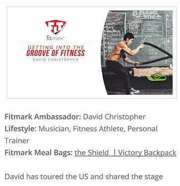 David Punk Rock Christopher, David Christopher, Fitmark, Fitmark Bags, Blog, Getting into the grove of fitness, Fitness, Gym, Workout, Muscles, Tattoos, Strong, Gym