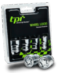 TPi locking wheel nuts in pack