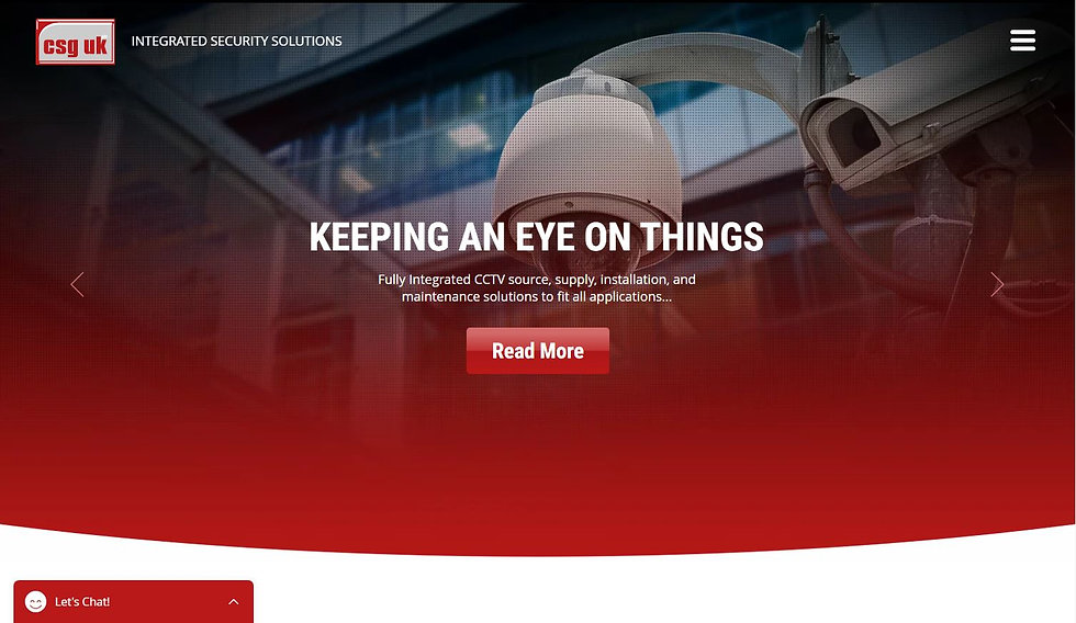 Security specialists CSG UK commissioned us to build and design a site to showcase their services.