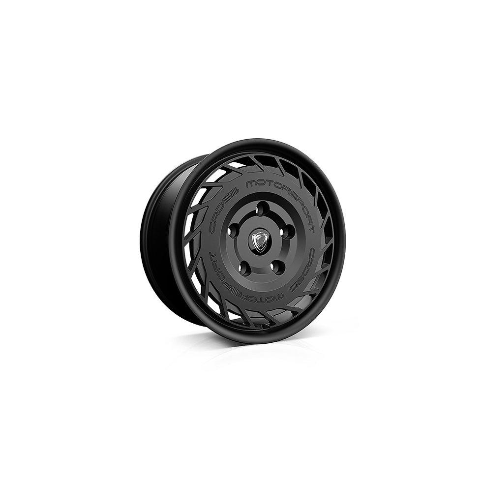 Design and 3D modelling of alloy wheel in Matt Black for Ford Transit Custom models.