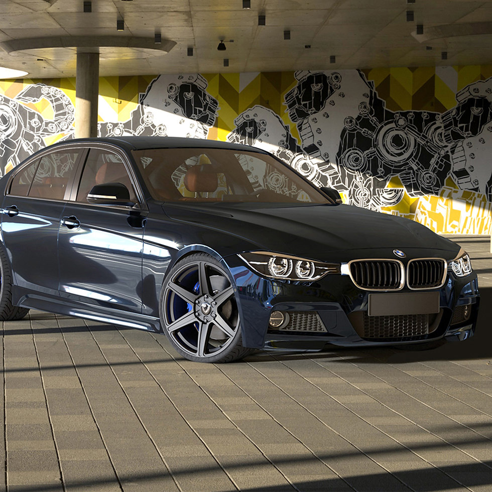 3D modelling of our Client's 'Thor' alloy wheel on BMW in photo realistic view.