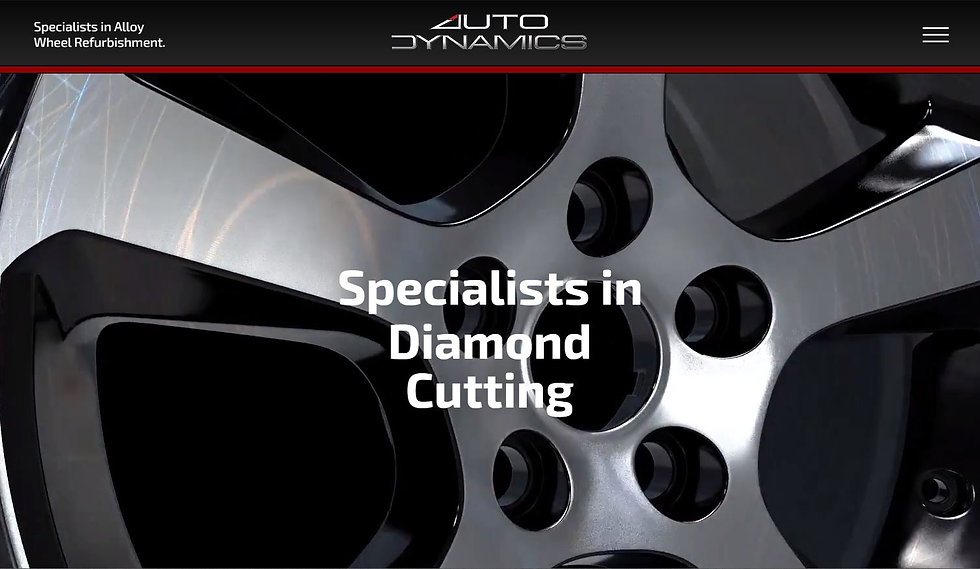 Alloy wheel repair specialists Auto Dynamics asked us to build a site that show in 3D the before and after of wheel refurbishing.
