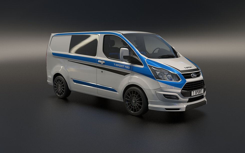 3D Visual of customised van for client T-93 Euro.