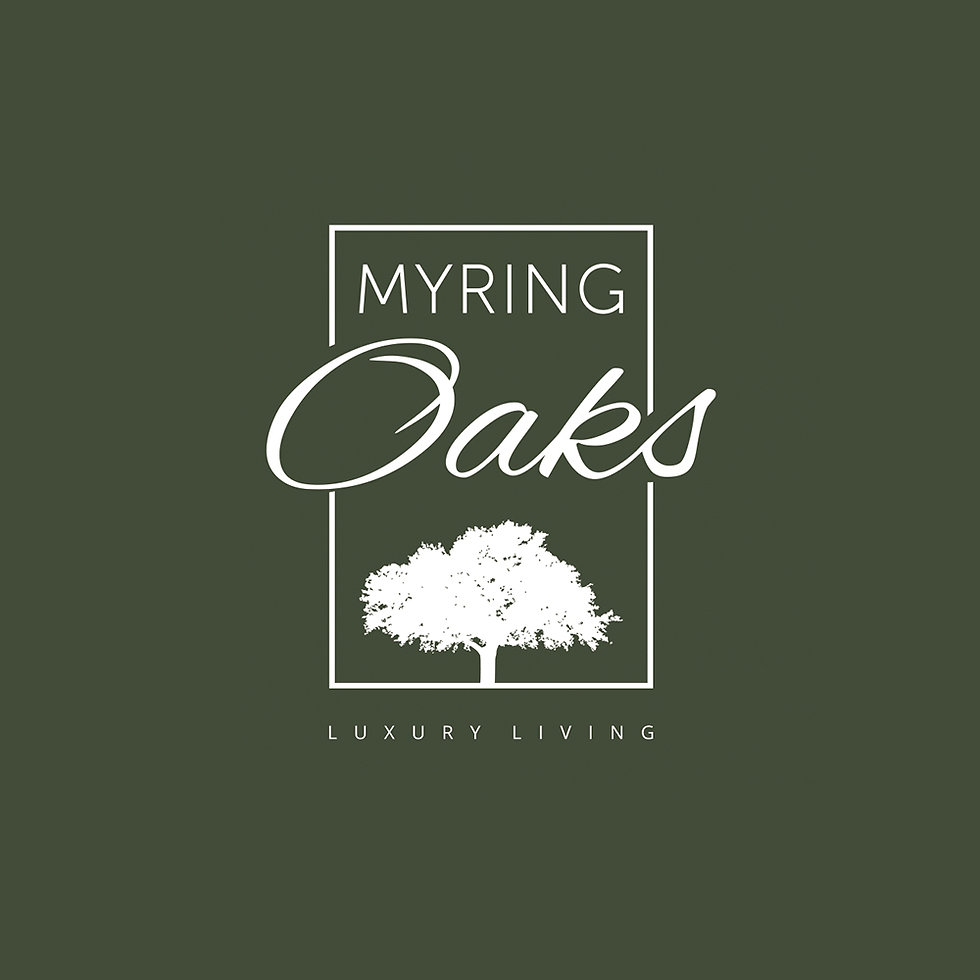 Logo design for a development of luxury homes as part of a wider brochure and 3D elevation plan.