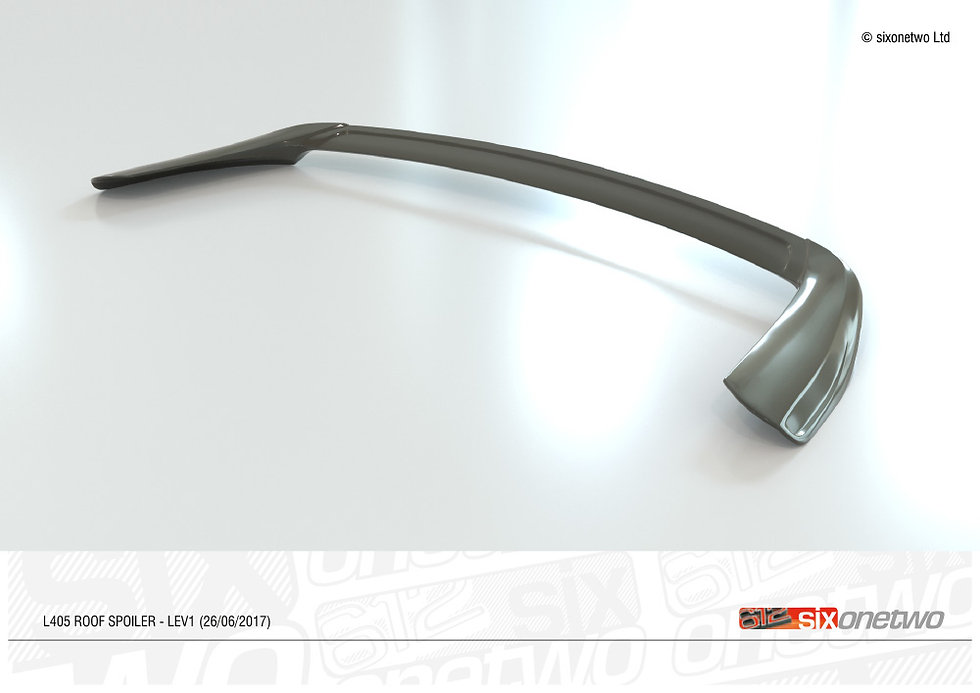 Hawke commissioned us to create options for an aftermarket rear spoiler. Built in 3D.