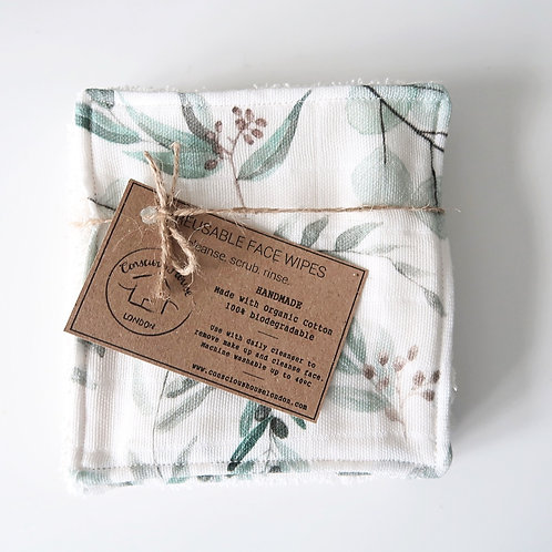 Reusable Make Up Wipes - Leaf